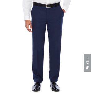 JF J.Ferrar Slim Fit Suit Pants (34X32, black)